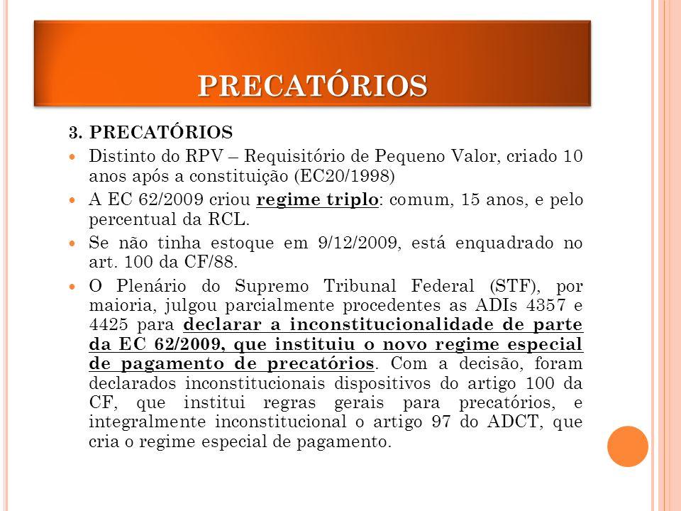 PRECATÓRIOS 3. PRECATÓRIOS