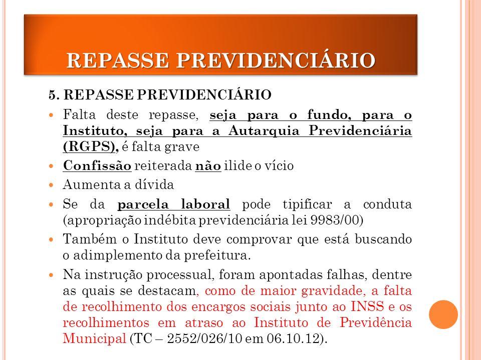 REPASSE PREVIDENCIÁRIO