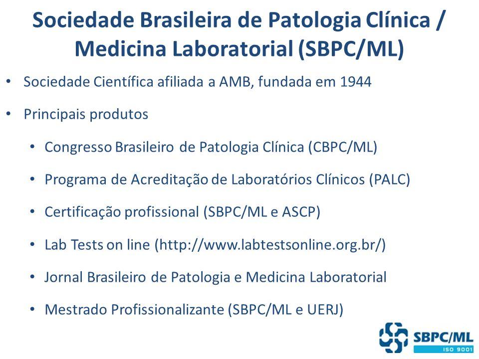 Sociedade Brasileira de Patologia Clínica / Medicina Laboratorial (SBPC/ML)