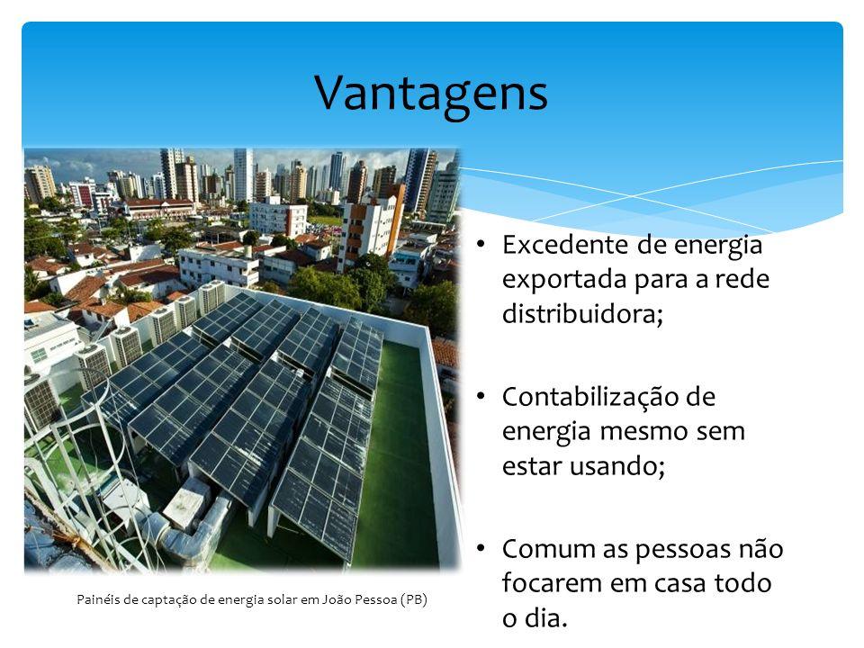 Painéis de captação de energia solar em João Pessoa (PB)