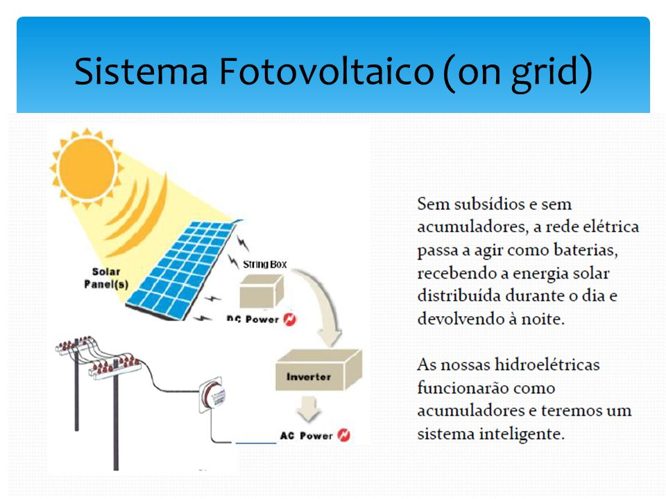 Sistema Fotovoltaico (on grid)