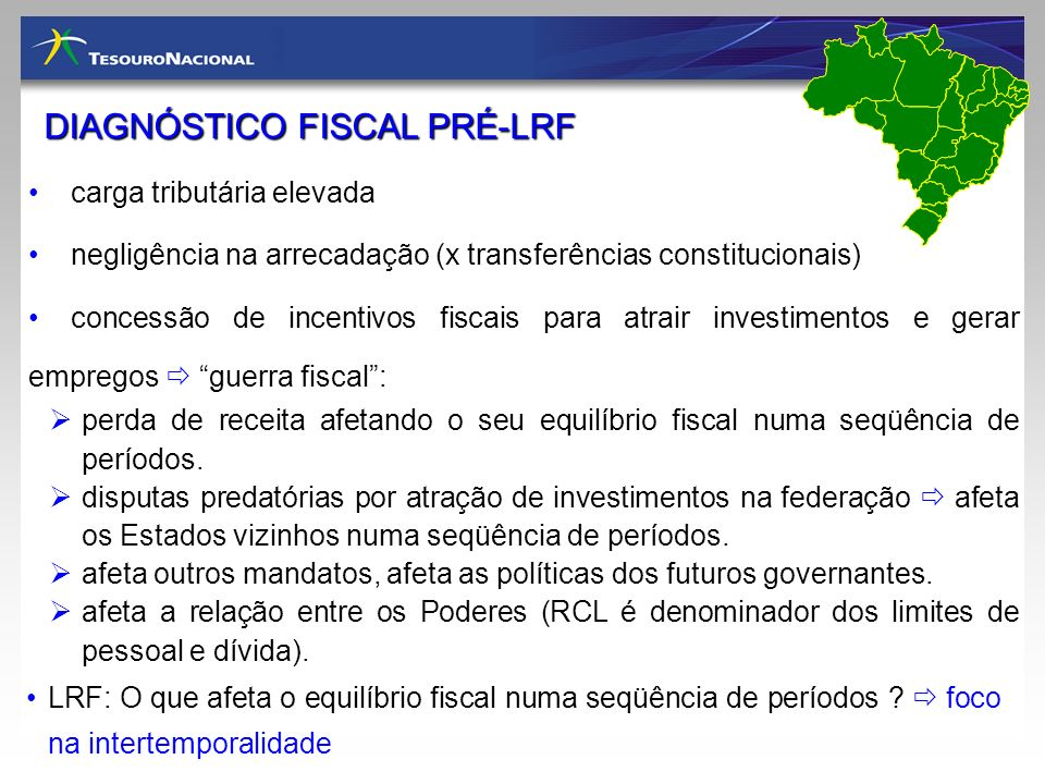 DIAGNÓSTICO FISCAL PRÉ-LRF