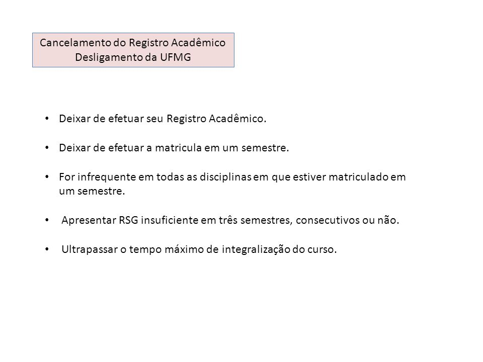 Cancelamento do Registro Acadêmico