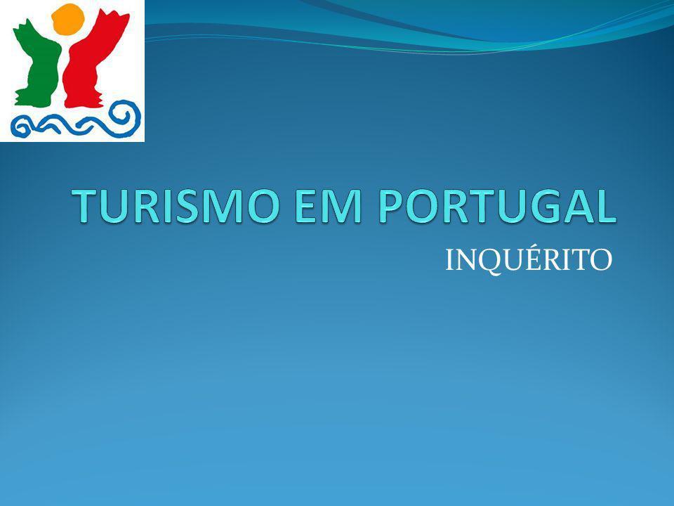 TURISMO EM PORTUGAL INQUÉRITO