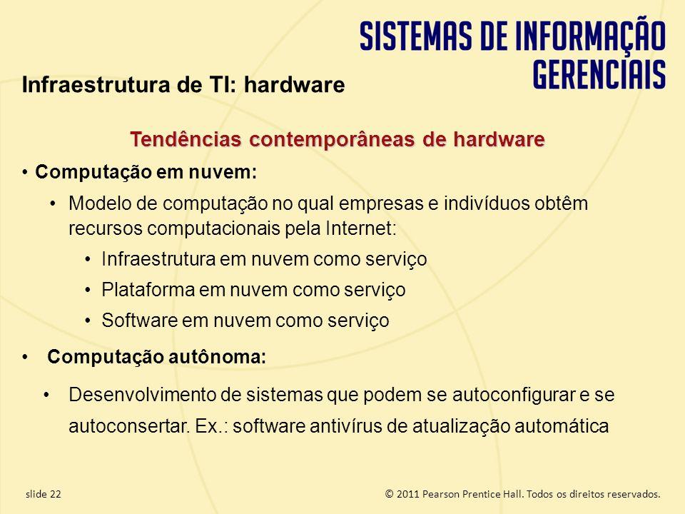 Tendências contemporâneas de hardware