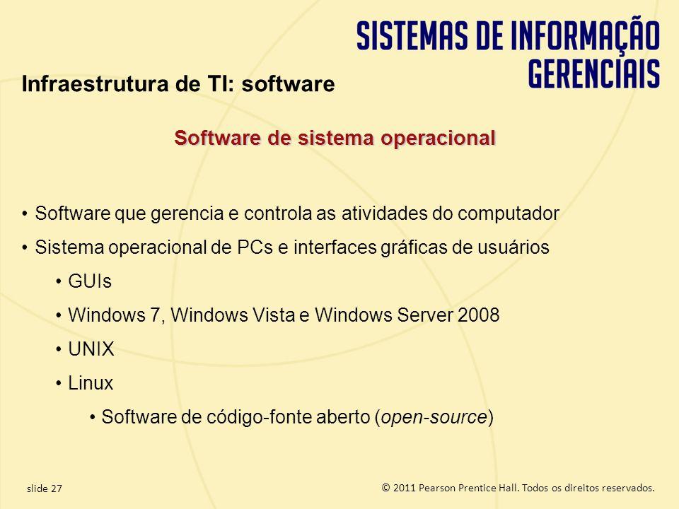 Software de sistema operacional