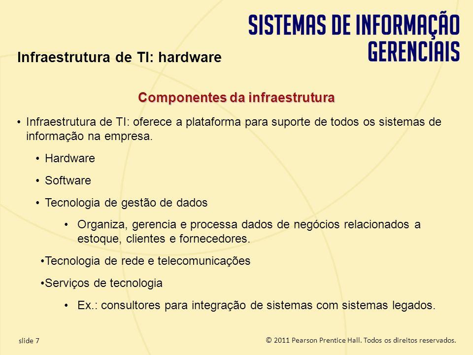 Infraestrutura de TI: hardware Componentes da infraestrutura