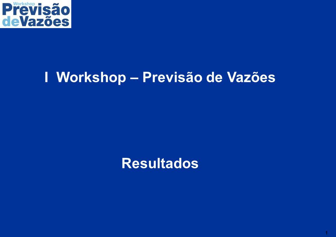 I Workshop – Previsão de Vazões