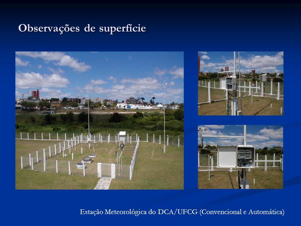 Observações de superfície