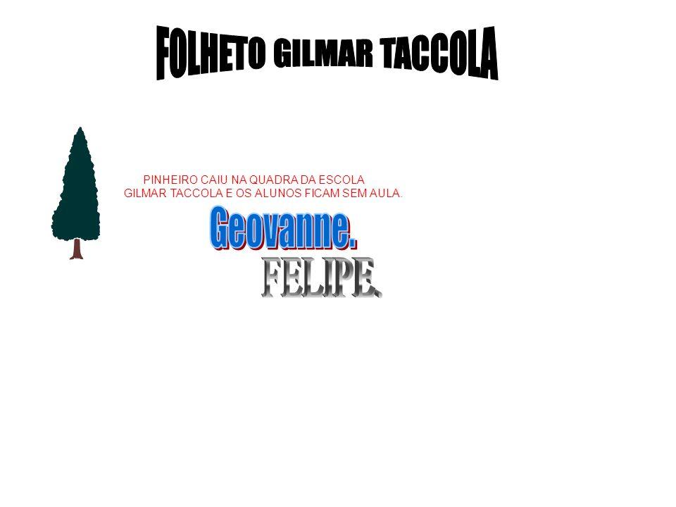 FOLHETO GILMAR TACCOLA