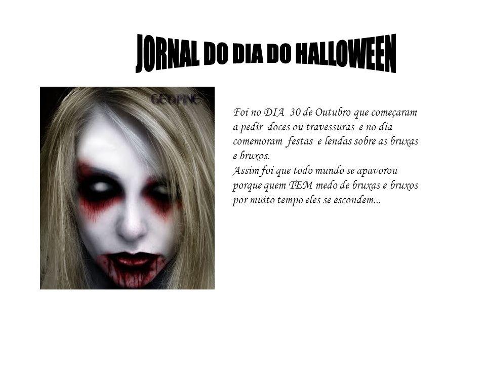 JORNAL DO DIA DO HALLOWEEN