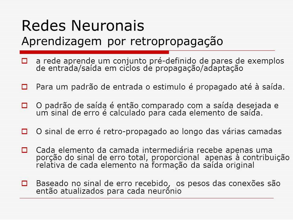 Redes Neuronais Aprendizagem por retropropagação
