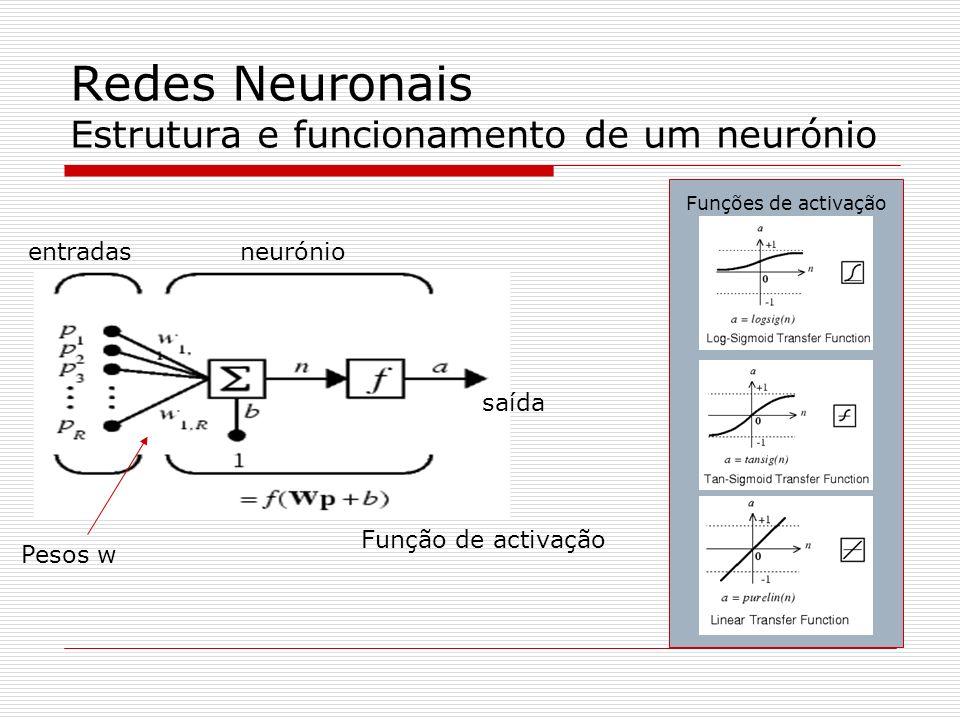 Redes Neuronais Estrutura e funcionamento de um neurónio