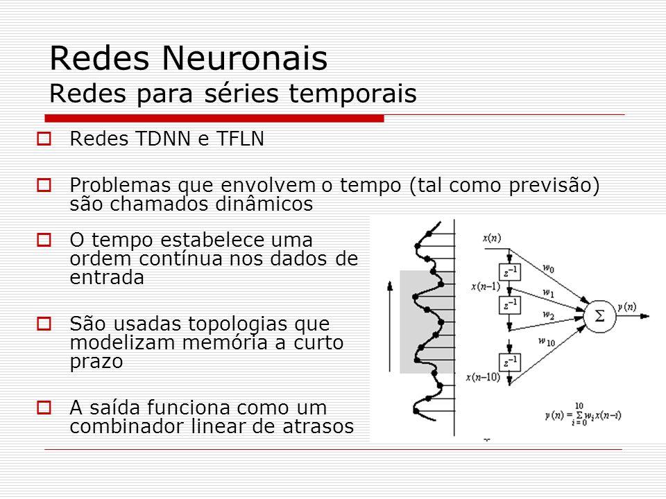 Redes Neuronais Redes para séries temporais