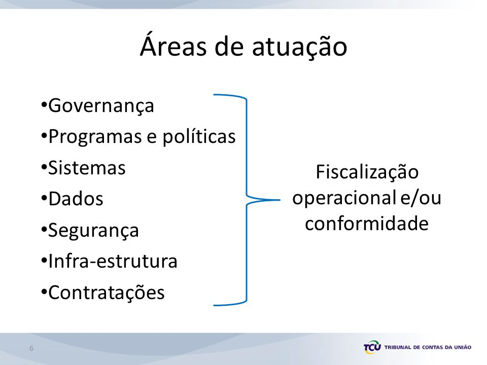 Fiscalização operacional e/ou conformidade