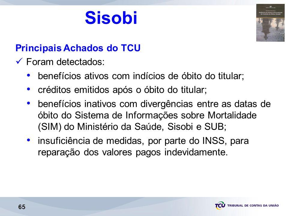 Sisobi Principais Achados do TCU Foram detectados: