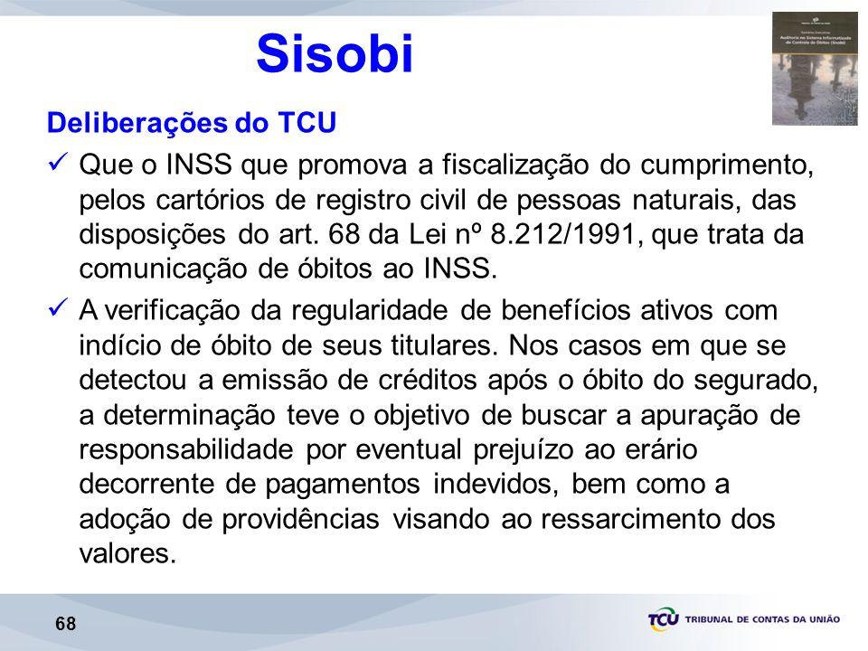 Sisobi Deliberações do TCU