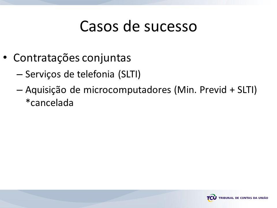 Casos de sucesso Contratações conjuntas Serviços de telefonia (SLTI)