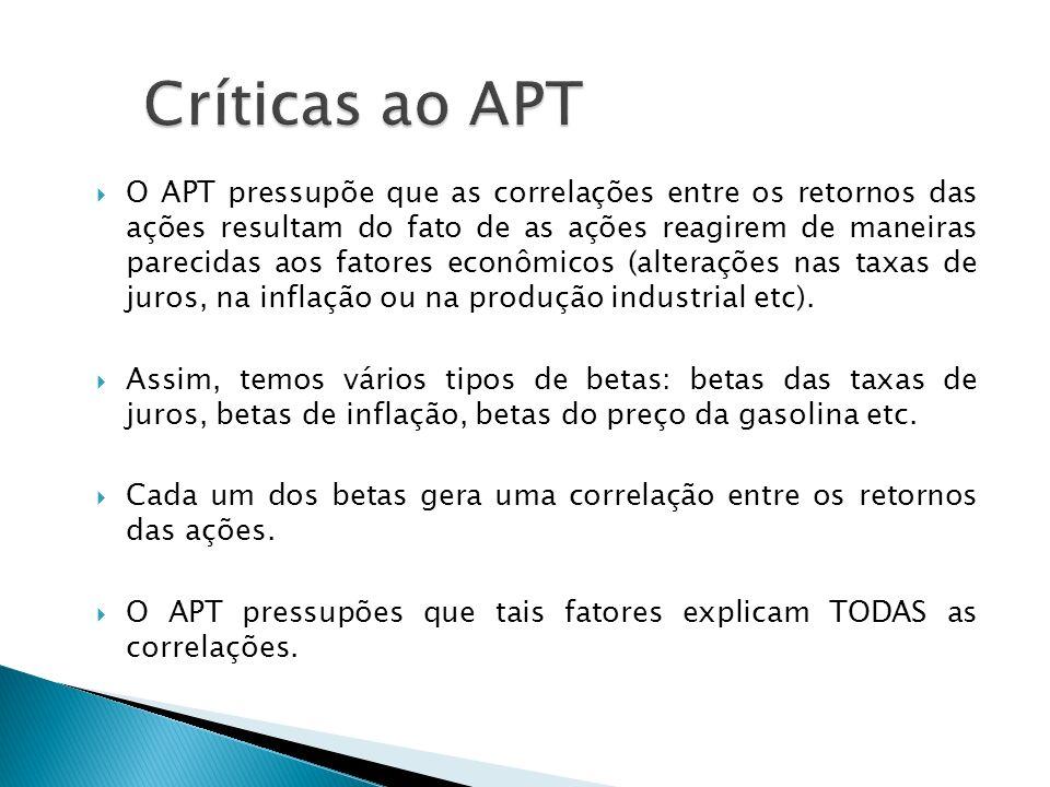 Críticas ao APT