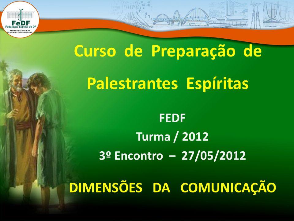 Curso de Preparação de Palestrantes Espíritas DIMENSÕES DA COMUNICAÇÃO