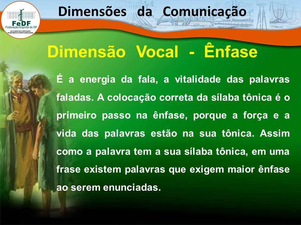 Dimensões da Comunicação Dimensão Vocal - Ênfase