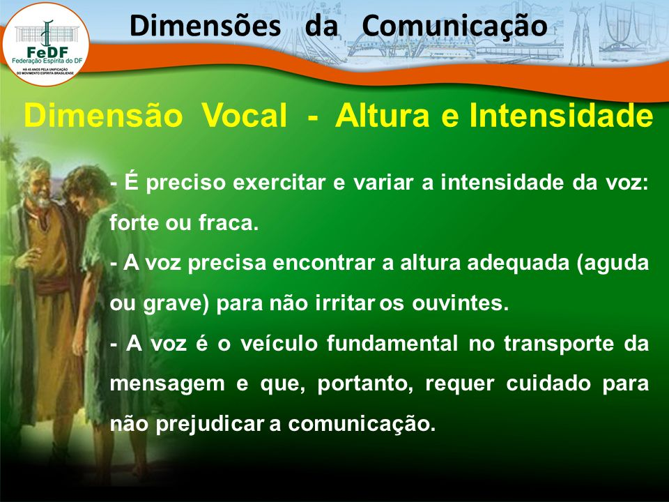 Dimensões da Comunicação Dimensão Vocal - Altura e Intensidade