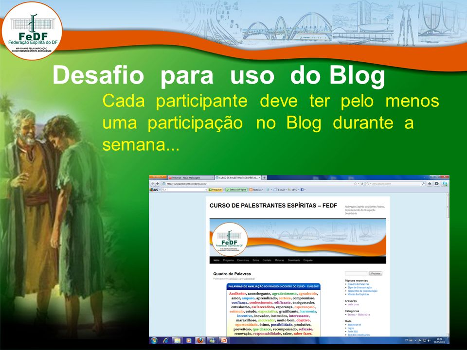 Desafio para uso do Blog