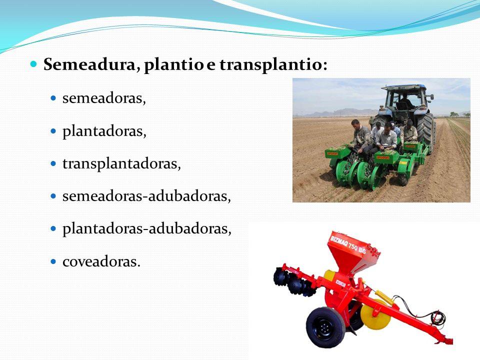Semeadura, plantio e transplantio: