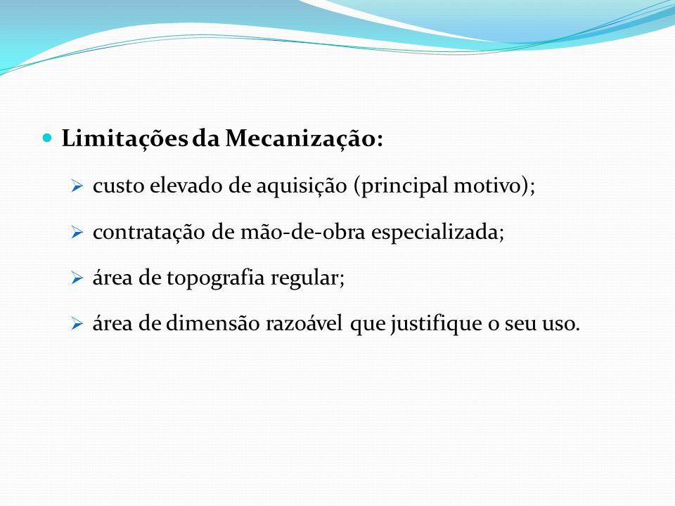 Limitações da Mecanização: