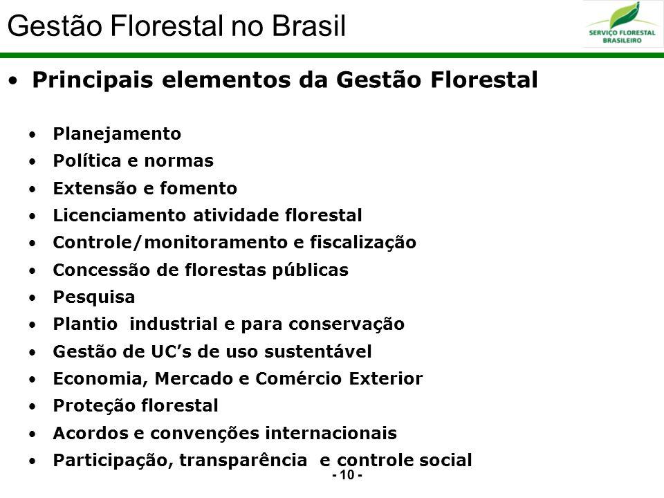 Gestão Florestal no Brasil