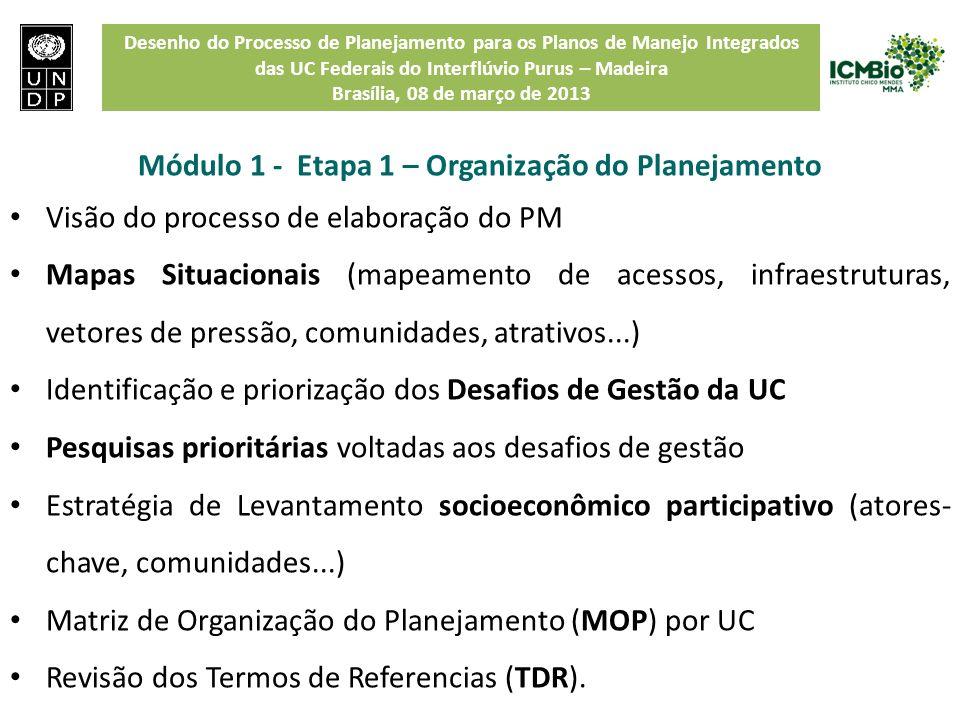 Módulo 1 - Etapa 1 – Organização do Planejamento