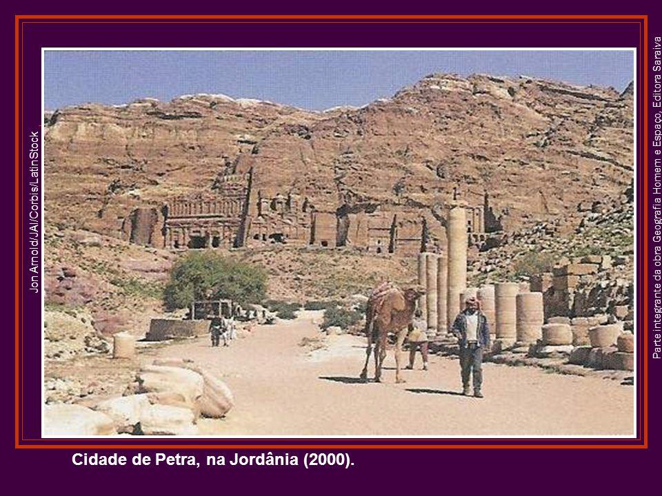 Cidade de Petra, na Jordânia (2000).