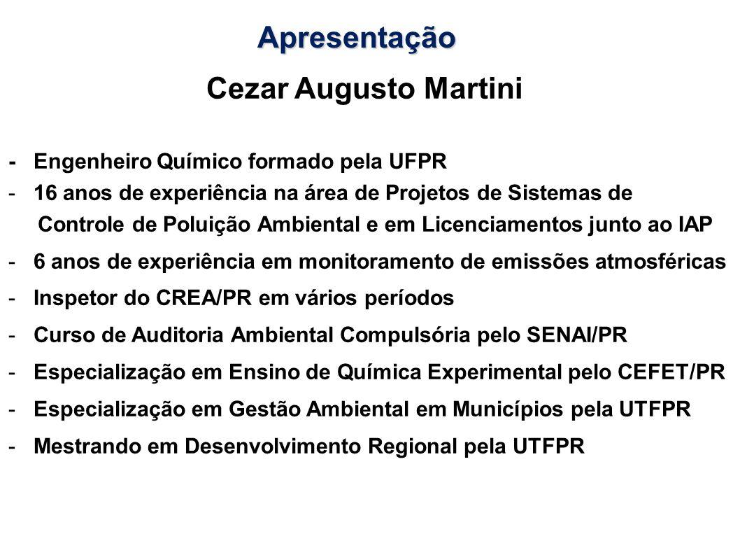 Apresentação Cezar Augusto Martini