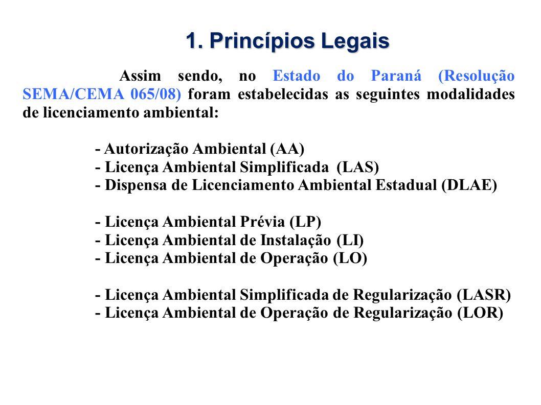 1. Princípios Legais