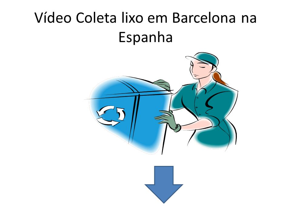 Vídeo Coleta lixo em Barcelona na Espanha