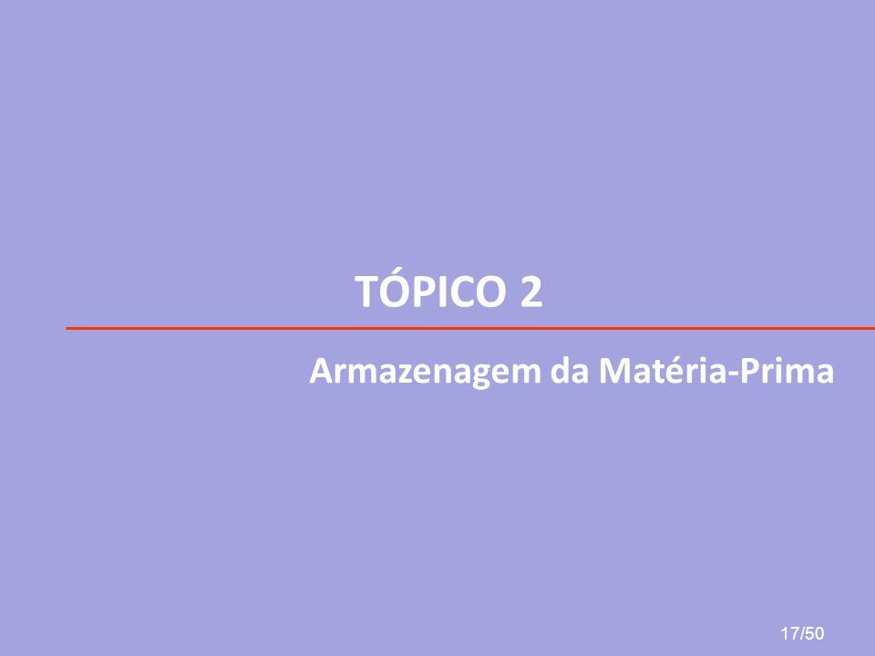 TÓPICO 2 Armazenagem da Matéria-Prima 17/50