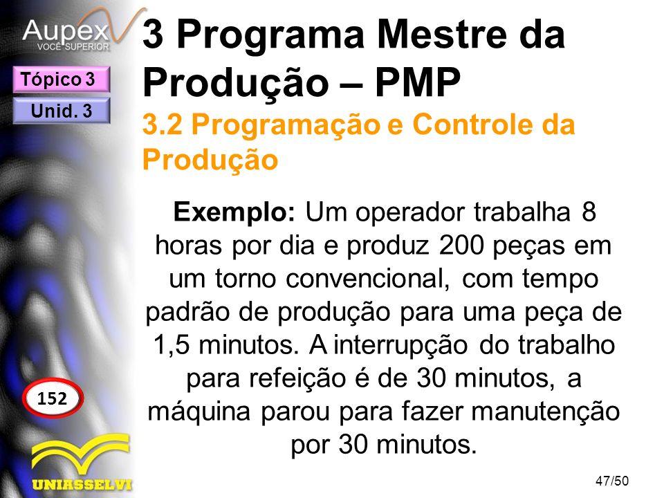 3 Programa Mestre da Produção – PMP 3