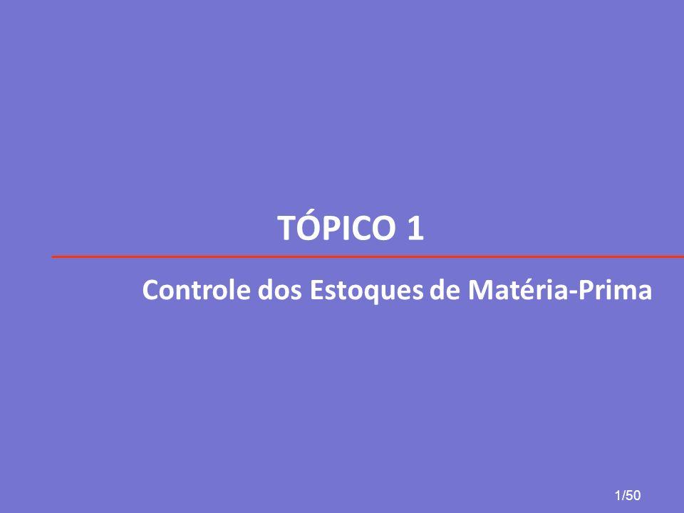 TÓPICO 1 Controle dos Estoques de Matéria-Prima 1/50