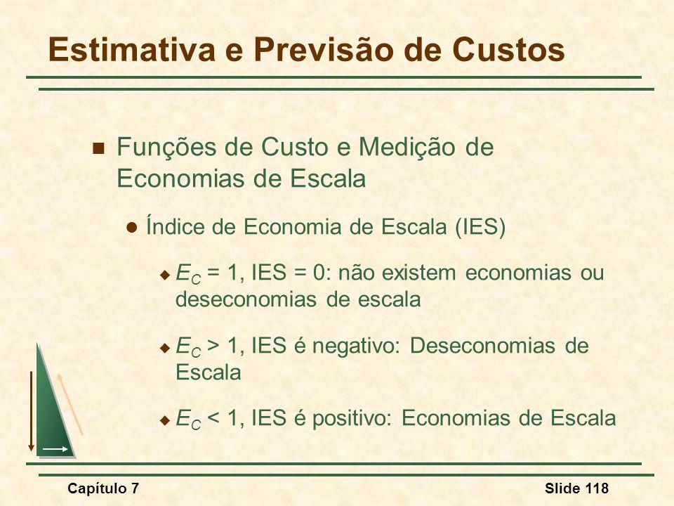 Estimativa e Previsão de Custos