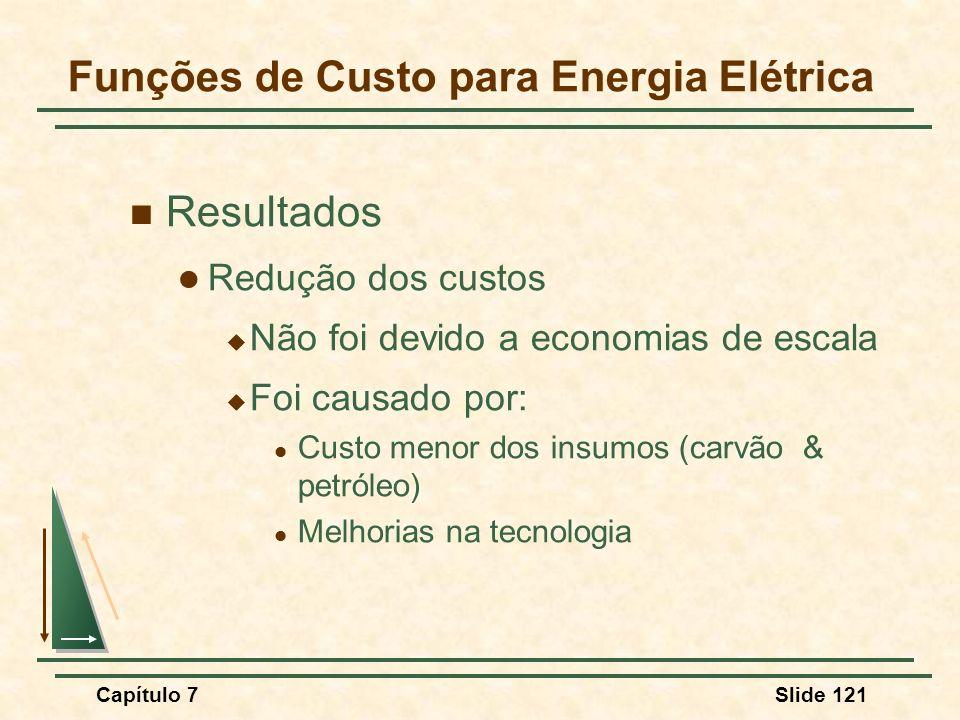 Funções de Custo para Energia Elétrica
