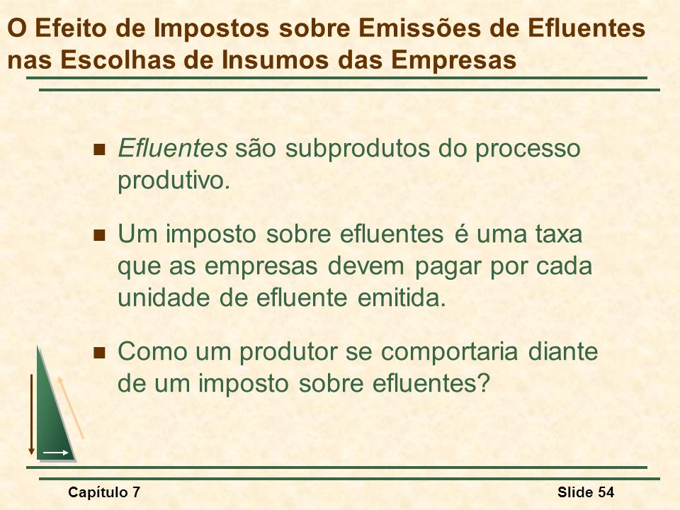 Efluentes são subprodutos do processo produtivo.