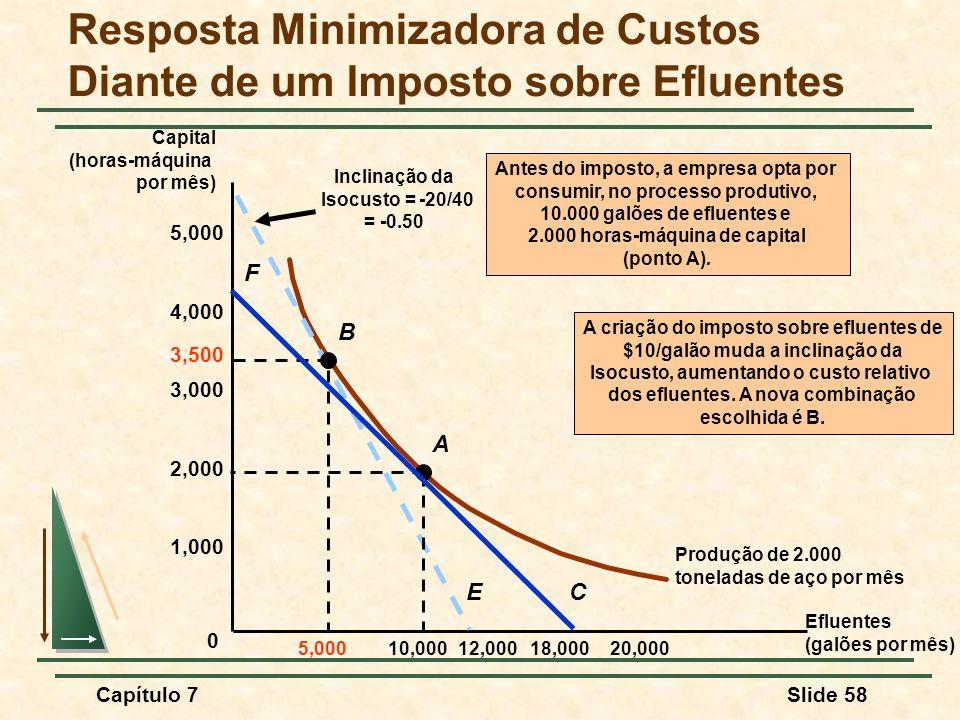 Resposta Minimizadora de Custos Diante de um Imposto sobre Efluentes