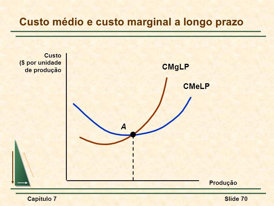 Custo médio e custo marginal a longo prazo