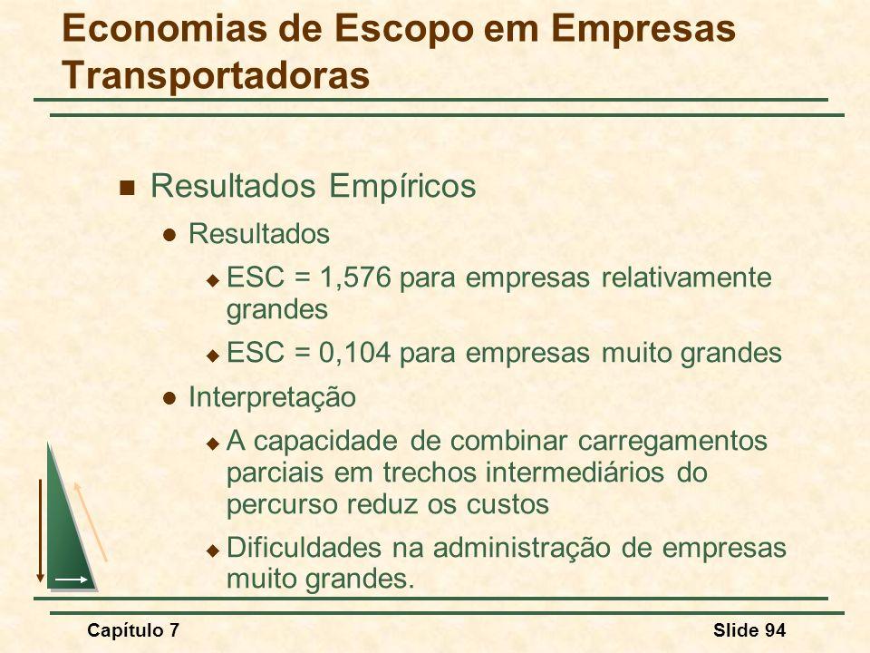 Economias de Escopo em Empresas Transportadoras