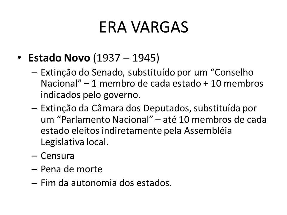 ERA VARGAS Estado Novo (1937 – 1945)