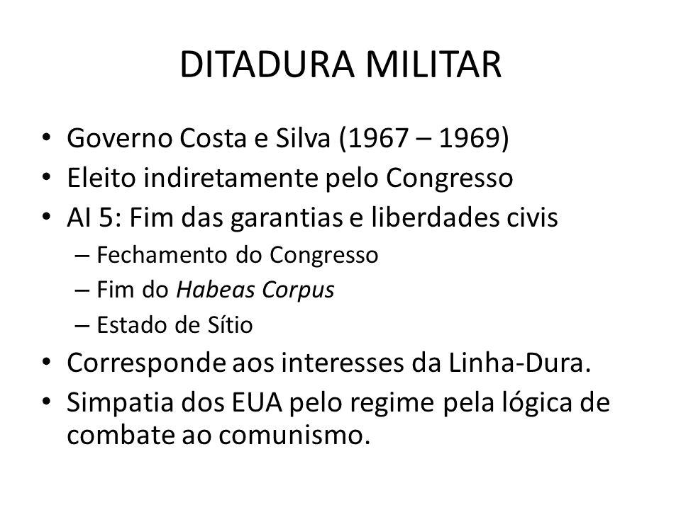 DITADURA MILITAR Governo Costa e Silva (1967 – 1969)