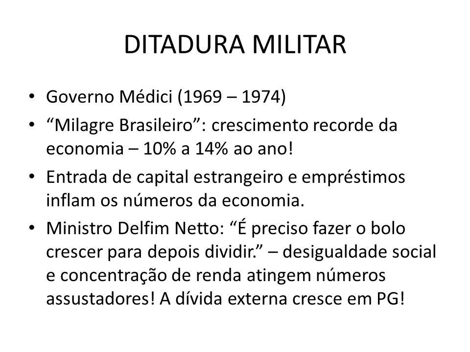 DITADURA MILITAR Governo Médici (1969 – 1974)