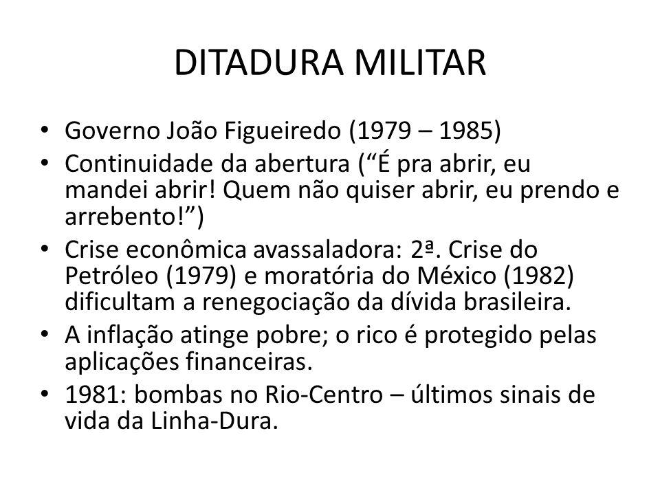 DITADURA MILITAR Governo João Figueiredo (1979 – 1985)