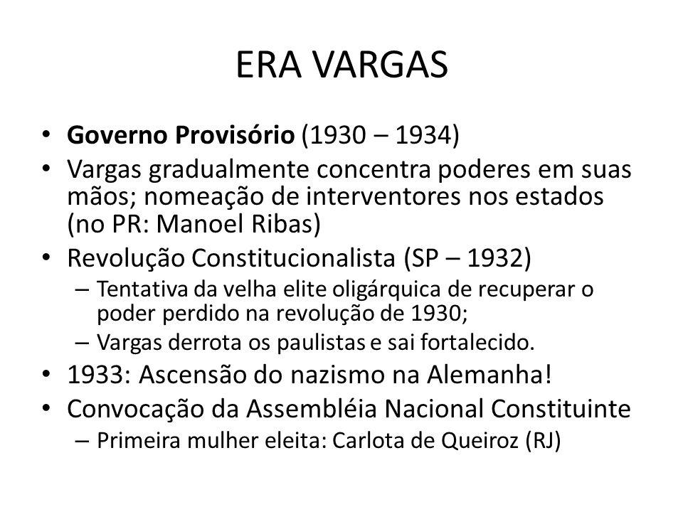 ERA VARGAS Governo Provisório (1930 – 1934)