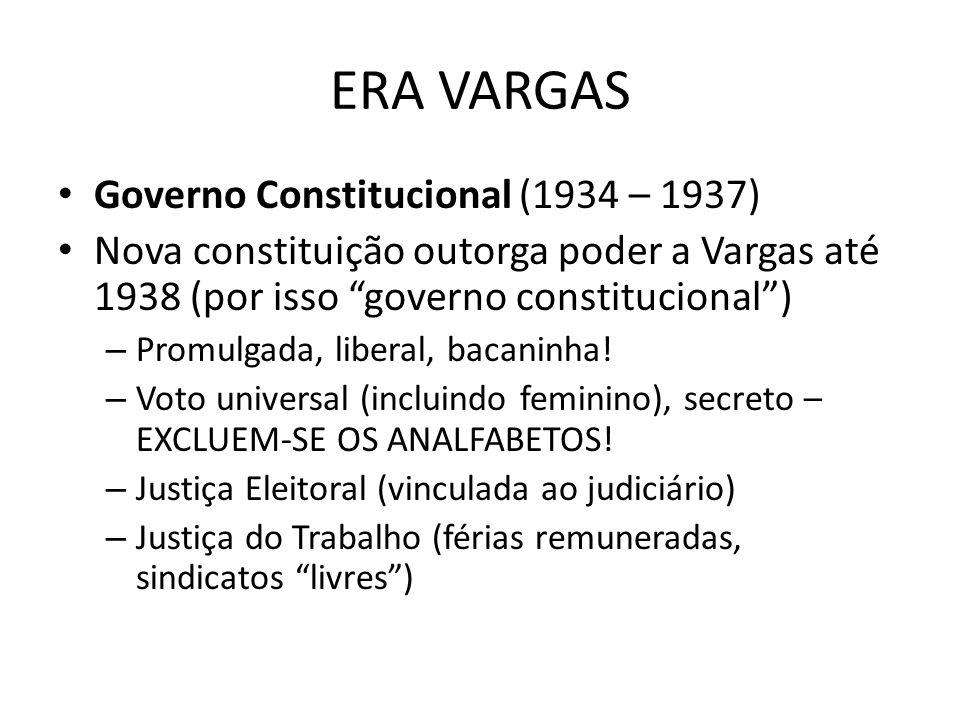 ERA VARGAS Governo Constitucional (1934 – 1937)